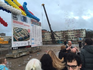 Onthulling bouwbord door minister Stef Blok